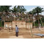 1. Building the roof for the sanctuary.JPG