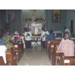 on the eve of the assuimption in the church about to move for the procession.JPG