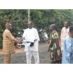 The former chairman of the Parish Council now the Patron greeting the other members of the Parish.jpg